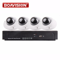 4Ch 1080P POE NVR Kit Realtime Recording With 4Pcs 2 0MP Security Dome IP Camera POE