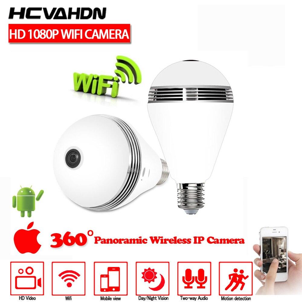 HCVAHDN Wireless IP Camera 1080P Wifi Fisheye 360 Degree Panoramic Home Security Surveillance CCTV Network Camera Night Vision|Surveillance Cameras| |  - title=