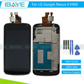 New 4.5 inch LCD For LG Nexus 4 E960 lcd display Touch Screen Digitizer Assembly With Frame for lg e960 Display + Tools