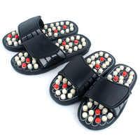 Masaż akupunkturowy kapcie sandał dla mężczyzn stopy chińska terapia akupresyjna medyczny obrotowy masażer do stóp buty Unisex
