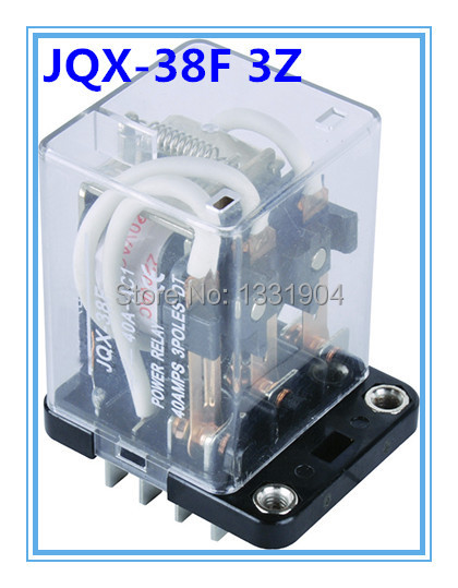 Подробнее о 40A 3PDT DC/AC12V/24V/110V/220V Coil Electromagnetic Power Relay, large power relay. Motor Control Silver Alloy free shipping dc 12v coils dp2t 8 terminals motor control electromagnetic power relay w socket