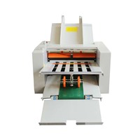 Automatic Paper Folding Machine High Speed Paper Folder Max for A3 Paper + 4 Folding Trays ZE 8B/4
