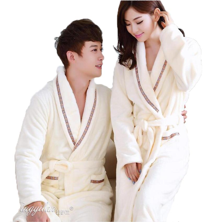 Soe talvine kapuutsiga hommikumantel puuvillane flanell-pidžaama Paaridele hommikumantlid Kimono-hommikumantli öösiriided naistele meestele