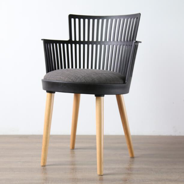 Latest Dining Chairs: YINGYI New Design Modern PP Plastic Dining Chair With Arms