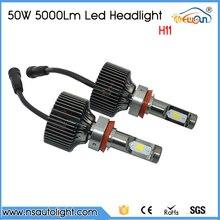 Free Shipping LED Car Headlights H11 Led Front Light Bulb Auto DRL Fog Lamp 50W 10000lm Automobiles Headlamp
