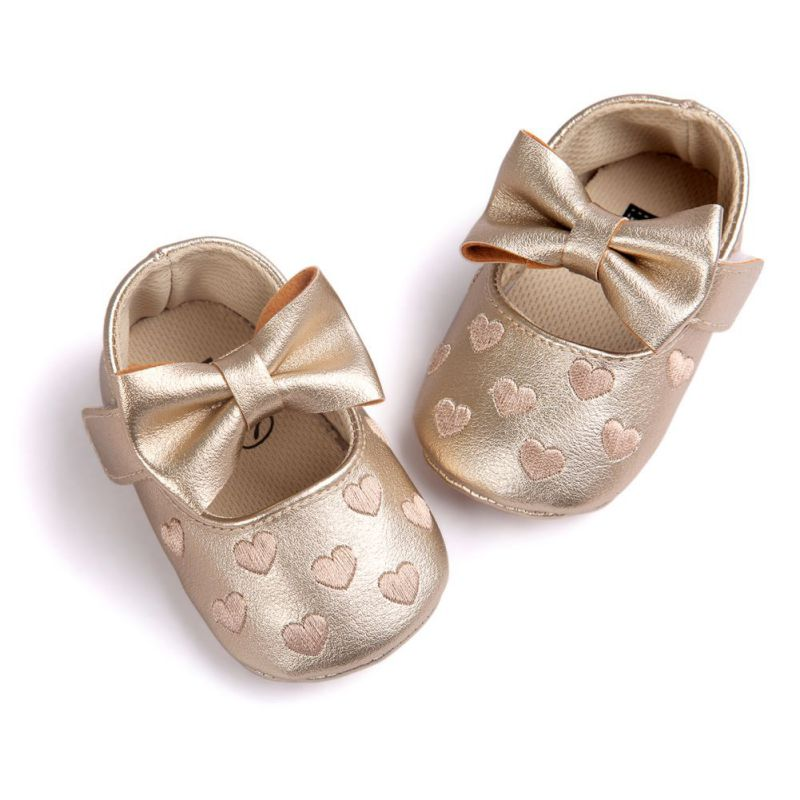 Baby PU Leather Shoes Newborn Girl Soft Shoes Bow Fringe Soft Soled Non-slip First Walkers Infant Bowknot Shoes 0-18M
