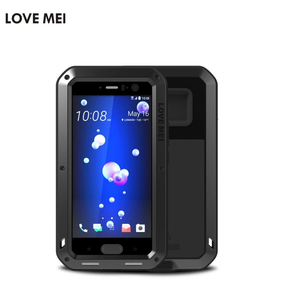 imágenes para Funda impermeable Para HTC U11 Amor Mei Aluminio A Prueba de Golpes Duro Para HTC Casos Marca de Lujo Cubierta Del Teléfono de Protección Para HTC U11 U11