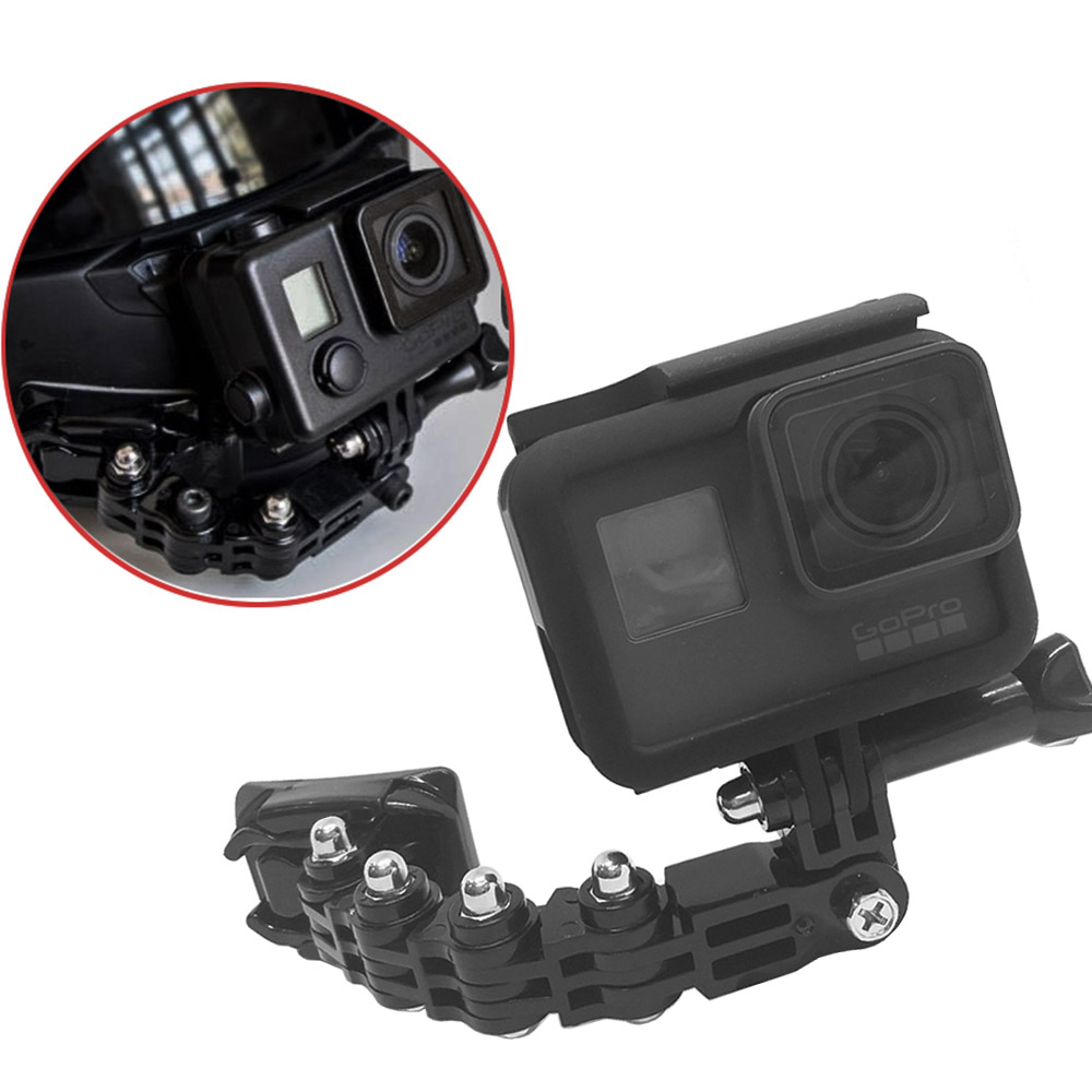TUYU Gopro accessories 4 ways turntable buckle mounted helmet chin bracket Hero 4 5 6 millet YI 4K SJCAM SJ4000 EKEN H9 H9R - ANKUX Tech Co., Ltd