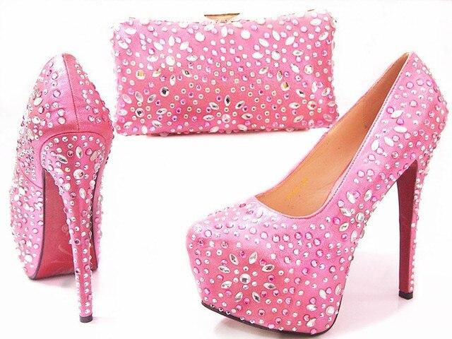 Bolsa De Mão Rosa Pink : Rosa quente flores mulheres sapatos peep toe bombas de