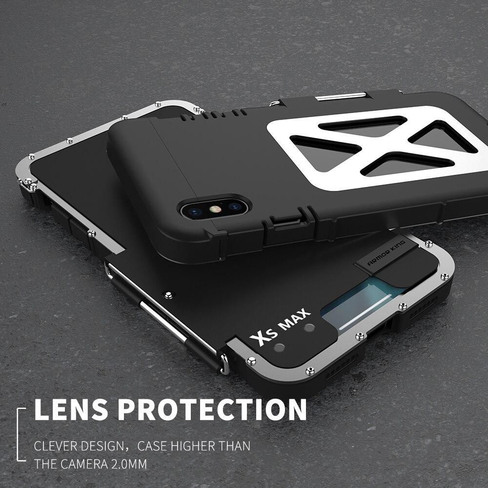 R JUST роскошный Железный человек противоударный чехол для IPhone XS Max Xr 8 7 6 6s плюс флип Алюминий металла 360 Защитный бронированный чехол для телефона