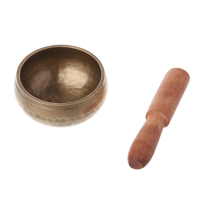 Buddhism Singing Bowl Nepal Brass Bowl Handmade Tibetan Bell Yoga Copper Chakra 8cm tibetan yoga of movement