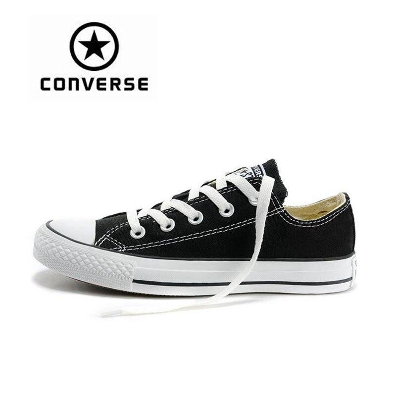 Новое поступление Аутентичные Converse классические парусиновые низкие Скейтбординг обувь унисекс анти скользкие Sneakser