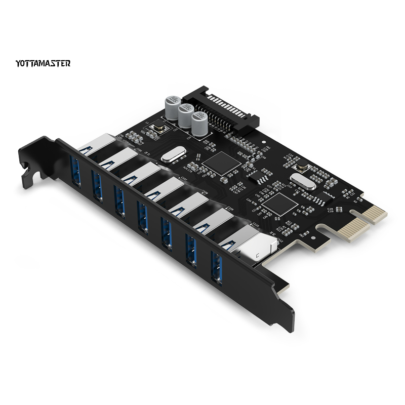 YOTTAMASTER CA30 7P USB3 0 7 TYPE A Ports Super Speed 5 Gbps PCI E Express