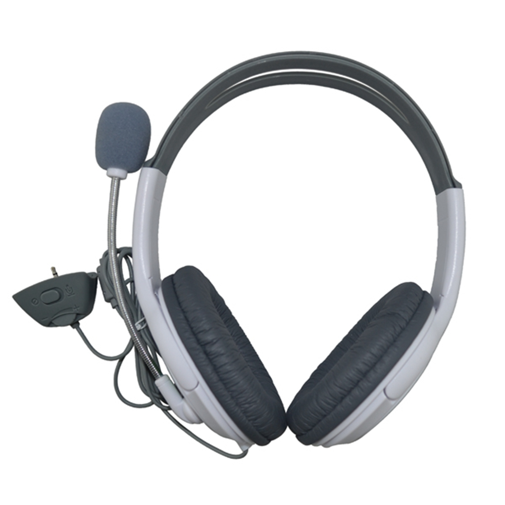 Free Shipping Deluxe Headset Headphone With Microphone For Xbox 360 (EX020)