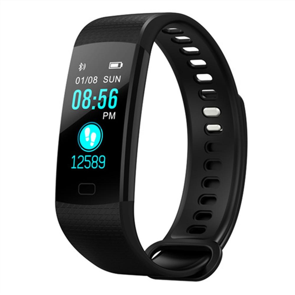 2018 Smart Bracelet Y5 electronic bracelet color LED watch activity fitness tracker blood pressure heart rate IP67 waterproof