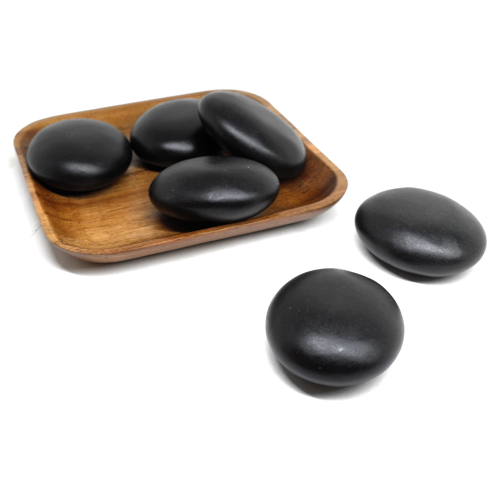 6x7cm Spa hot Stone Beauty Stones Massage Lava Natural Stone Hot Relieve Stress RELAX jade massage set toe massage in Massage Relaxation from Beauty Health