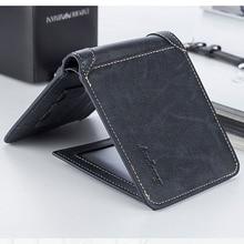 Baellerry Luxury Short Men Casual Wallets Coin Pocket Business Slim Male Wallet Credit Card Holder Leather Clutch Men Purse W196
