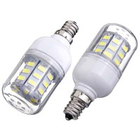 12 Pcs E12 Corn Bulb High Power LED 5730 SMD Pure White Light Lamp Energy Saving