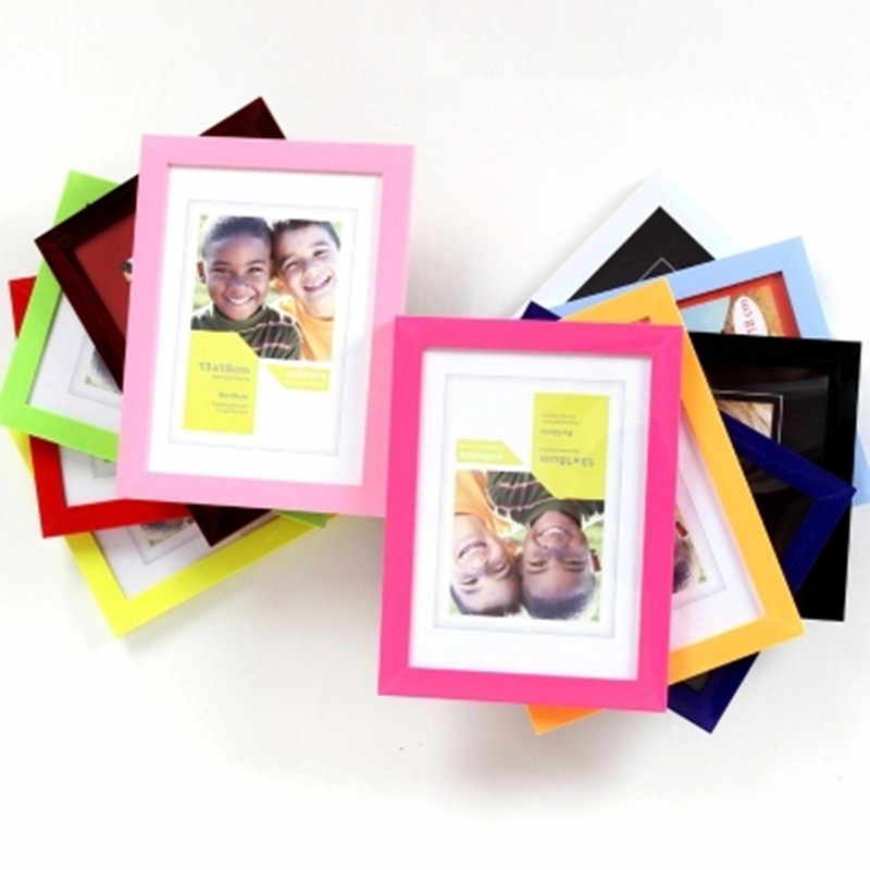 6inch  Frame Acrylic Plexiglass Wood Card Backplane Stand Table Display Photo Quadro Decoration TV Wall Photo Frame New Arrival