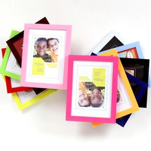 6inch  Frame Acrylic Plexiglass Wood Card Backplane Stand Table Display Photo Quadro Decoration TV Wall New Arrival