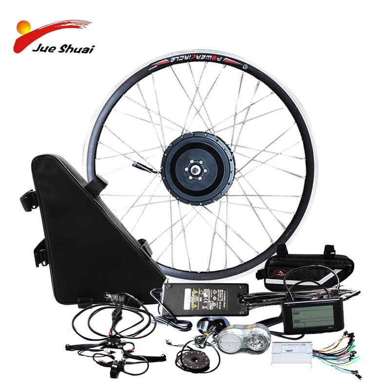 JS Electric Bike Kit 1000w With Battery 48V Electric Battery Ebike Motor Wheel Electric Bike Conversion Kit Bicicleta Electrica