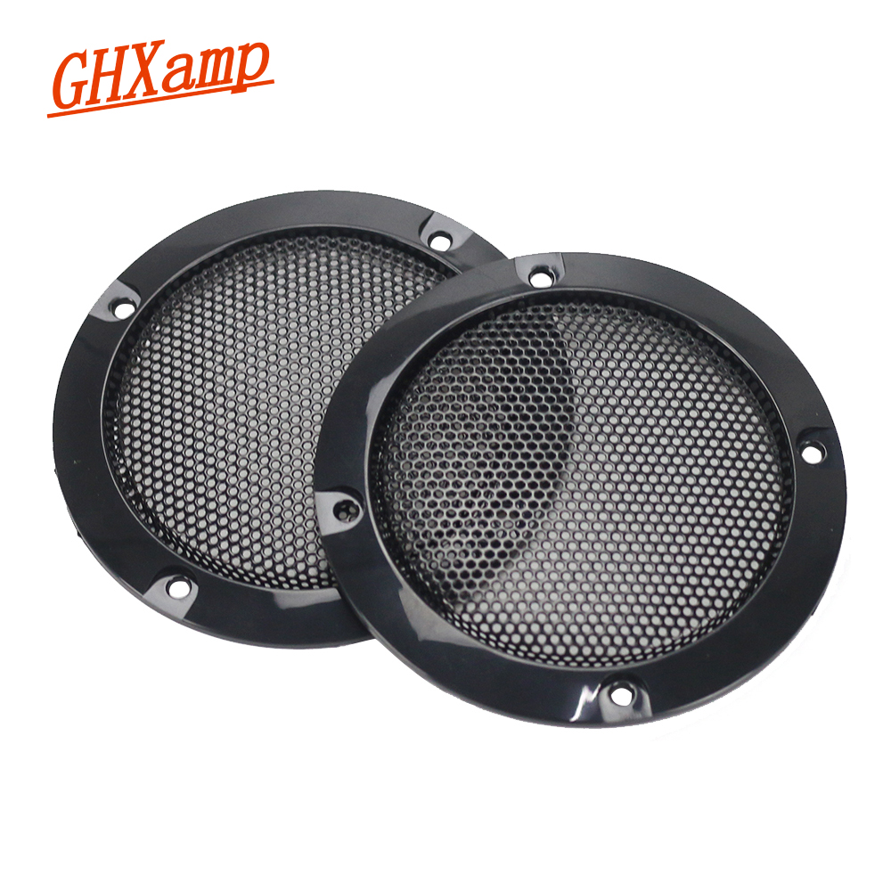 GHXAMP 2PCS 3 tommer 73MM Sort Subwoofer Speaker Grill Mesh Enhed Woofer Net Bil Beskyttende Cover DIY