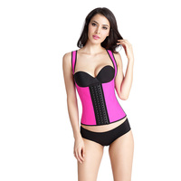 Women's Fitness Latex Corset Vest 3 Layers Waist Trainer Corset Body Suit Shaper 9 Steel Boned Corsets Slimming Shapewear