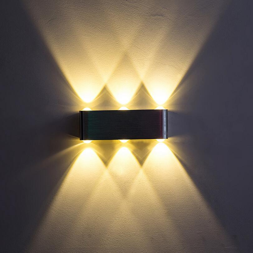 Free Shipping 6W 8W High Quality LED wall light AC85-265V modern aluminum lamp wall sconce surfaced mounted light indoor bedroom