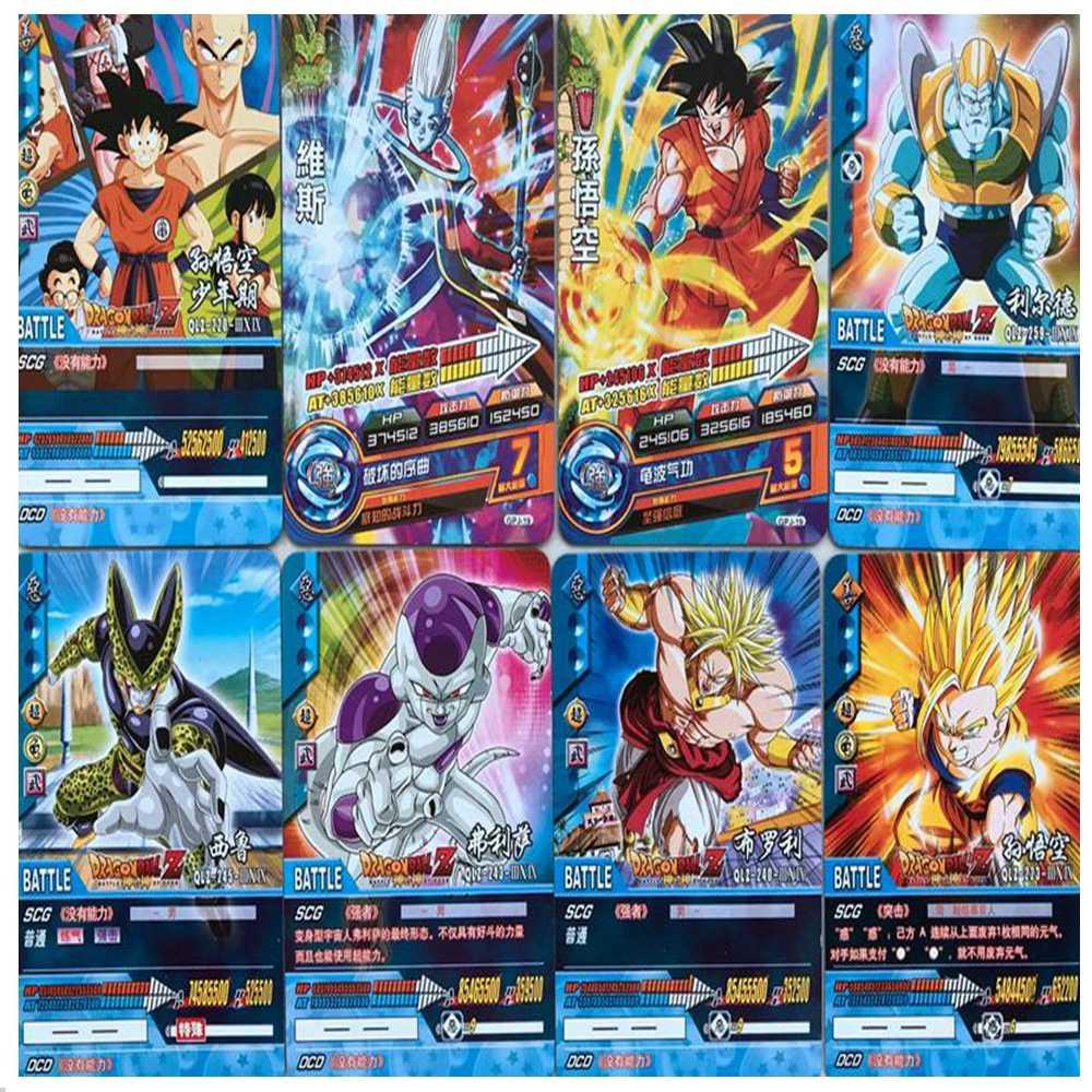 32 pçs/lote Dragon Ball Z Cartões da Coleção Além De Batalha Deuses Vegeta Super Saiyan Goku Figura de Ação Freeza Cartão Toy Kid Presente