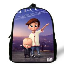 12-Inch Cartoon The Boss Baby Print Backpack For Children TimTemple Backpack For Kids Boys Girls Preschool Baby Kindergarten Bag