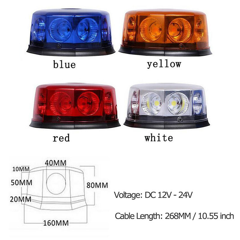 8 LED Beacon Car Emergency Lights Hazard Warning Auto Strobe Light w - Bilbelysning - Foto 6