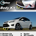 Bumper Lip Deflector Lips For Ford C-Max C Max CMax Front Spoiler Skirt For TopGear Fans Car View Tuning / Body Kit / Strip