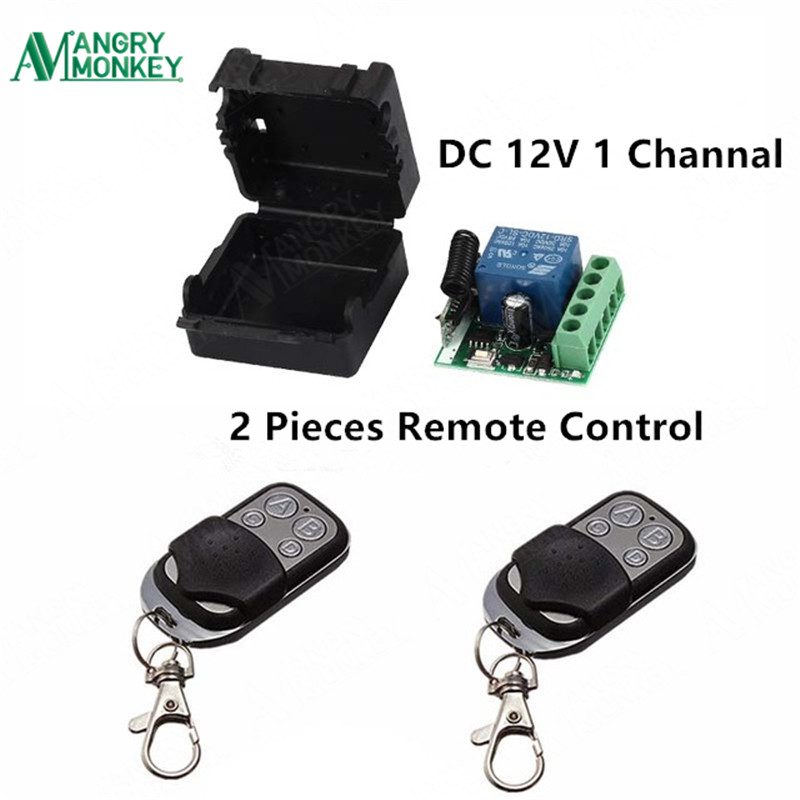 433Mhz Universal Wireless Remote Control Switch DC 12V 1CH relay Receiver Module and 2 pieces Transmitter 433 Mhz Remote Control wireless pager system 433 92mhz wireless restaurant table buzzer with monitor and watch receiver 3 display 42 call button