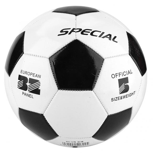 Classic size 5 black and white soccer footballs PVC balls goal team match training balls student team training kids match