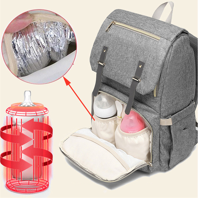 Fashion Large Capacity Baby Nappy Bag Diaper Bag Purse Multifunction USB Mummy Travel Backpack Women Nursing Bags For Mom Daddy 3
