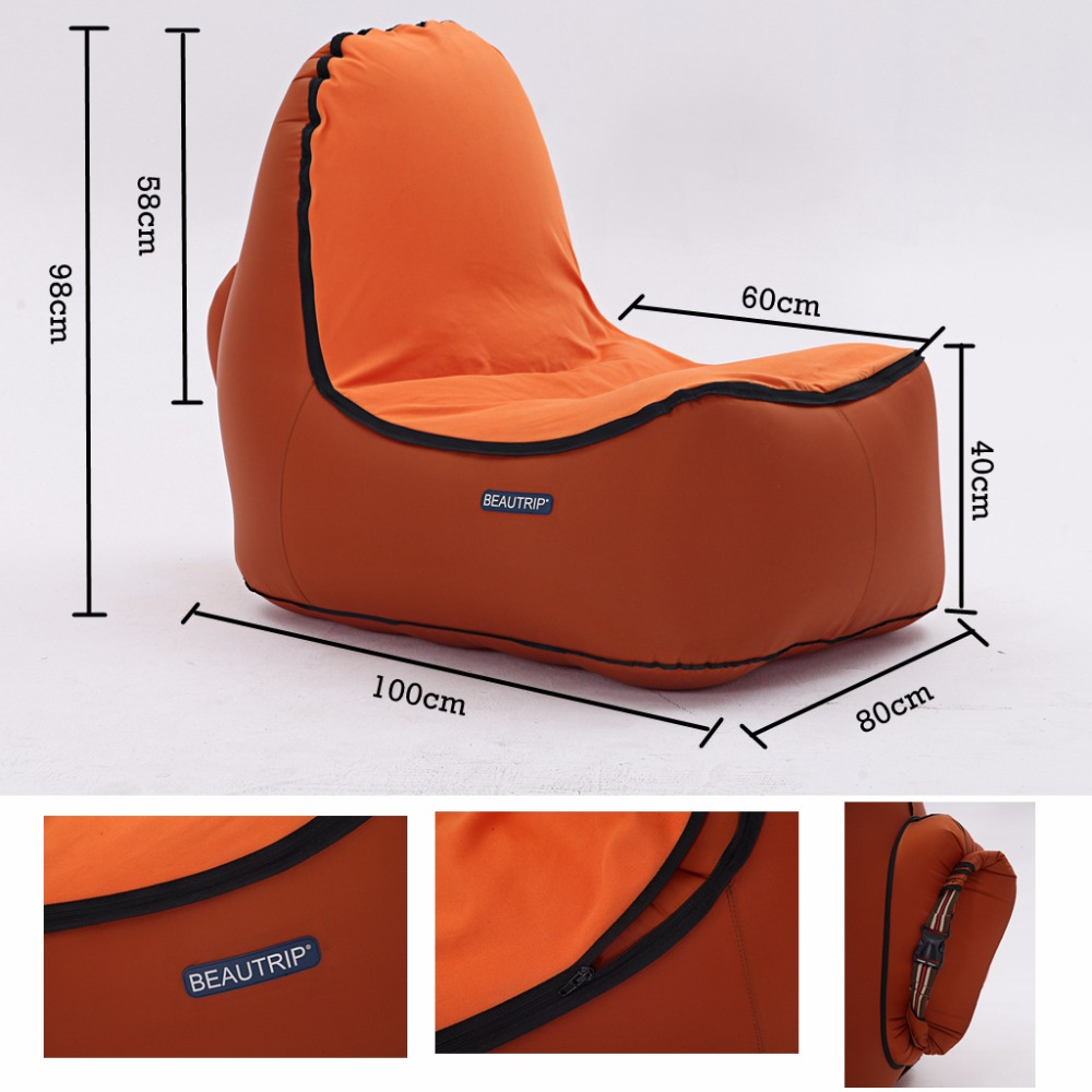 air travel beach chairs grey computer chair inflatable lounger outdoor lounge sofa camping hiking fishing equipment couch hammock lay bag in mat from sports