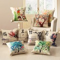 9 tipo sofá almohadas cojines cojín de automóvil rangiku plum flor de algodón hilado teñido almohada cabeza y amortiguador trasero