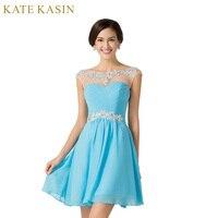 2016 New Design A Line Short Dresses Scoop Neck Cocktail Party Dress Lace Up Veatidos De
