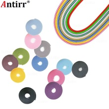 1.5M Cute MIX Colors phone Wire Rope Protection Suit Spring Sleeve twine Cable Bobbin Winder Data Line Protector earphone Cover