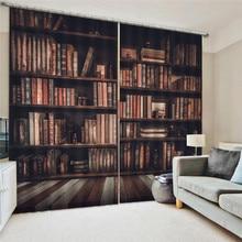 Книжный шкаф для гостиной с цифровой печатью, 3D затемняющие шторы, акварельные шторы для украшения спальни, обработка окон, полиэфирное украшение Oct29