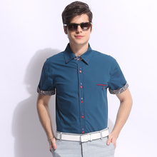 The new males's informal shirts in summer time Fashion shirts with brief sleeves plus-size L-8XL