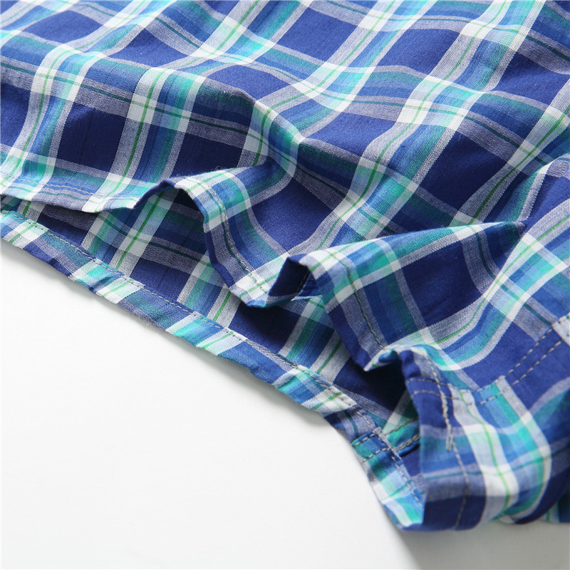 Man's Classic Basics New High Quality 100% Cotton Sleep Shorts Men Casual Loose Pants Summer Leisur Plaid Home Underwear