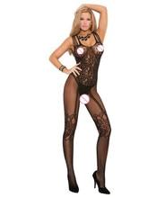 Sexy lingerie women black sexy open file leotard netting process for fine QA001