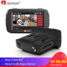 Junsun Car DVR Radar Detector Camear GPS 3 in 1 LDWS FHD 1296P Video Recorder Registrar Speedcam Anti Radar Detectors Dash Cam