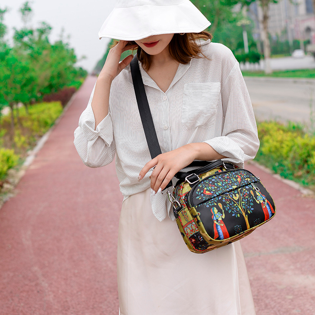 Printed Handbag Black Bow-Bags Satchel Shoulder-Top Small Crossbody Women Simple Hip-Hop
