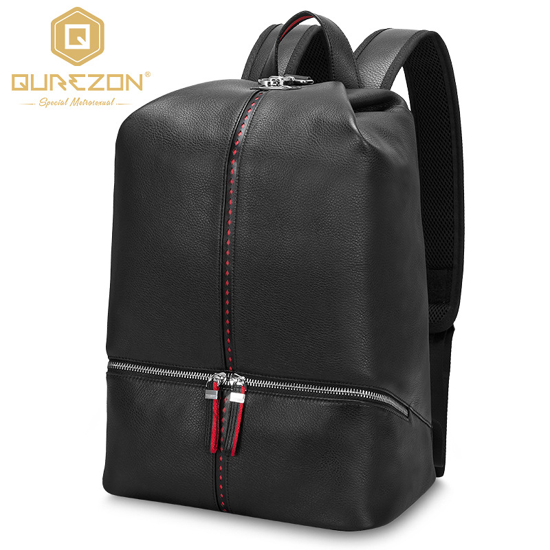 Top Quality Brand Backpack Laptop Genuine Leather Backpack Mens Travel Bags 2018 Multifunction Rucksack Black School BackpacksTop Quality Brand Backpack Laptop Genuine Leather Backpack Mens Travel Bags 2018 Multifunction Rucksack Black School Backpacks