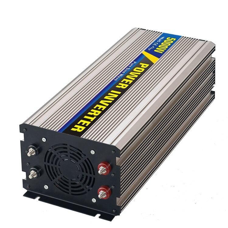 Maylar @ Real Мощность 5000 Вт автомобиля Мощность преобразователь DC 48 В к AC 110 В или 220 В чистая синусоида пик 5000 Вт Мощность солнечные инверторы