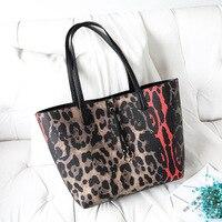 Designer large tote bag leather handbag women big fringe snake print PU shoulder bags black fashion totes for woman