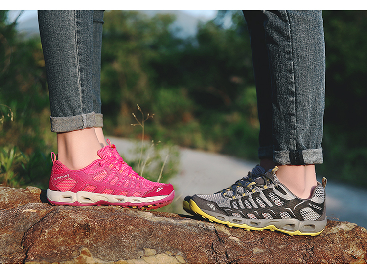 New 2017 Summer Unisex Aqua Shoes Air Mesh Clorts Outdoor Shoes Women Sneakers Lace Up Breathable Hiking Shoes Size 35-44 V1 (48)