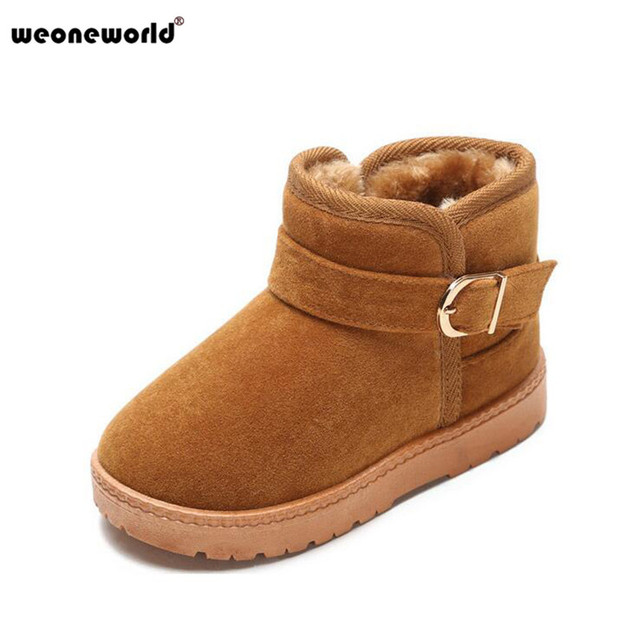 9b5469951c2 US $23.92 |2017 Winter Kids Ugs Australia Snow Boots Thick Warm Casual  Shoes Buckle Boys Girls Boots Waterproof Kids Booties Shoes 22 35-in Boots  from ...
